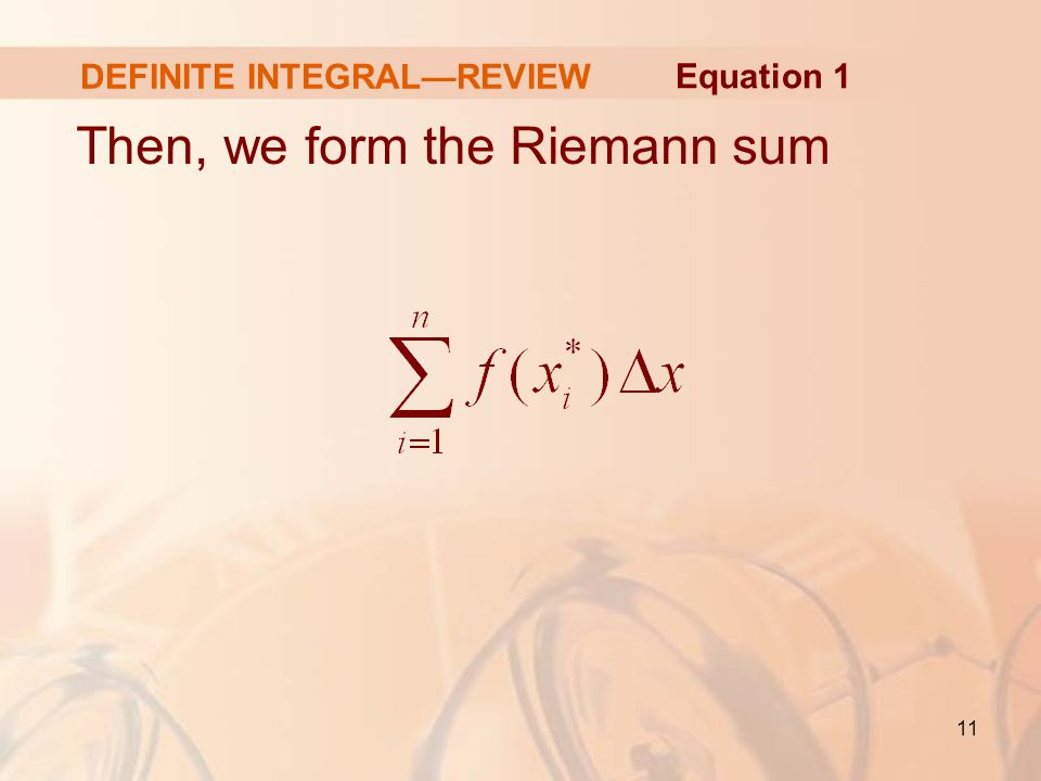 DEFINITE INTEGRAL—REVIEW