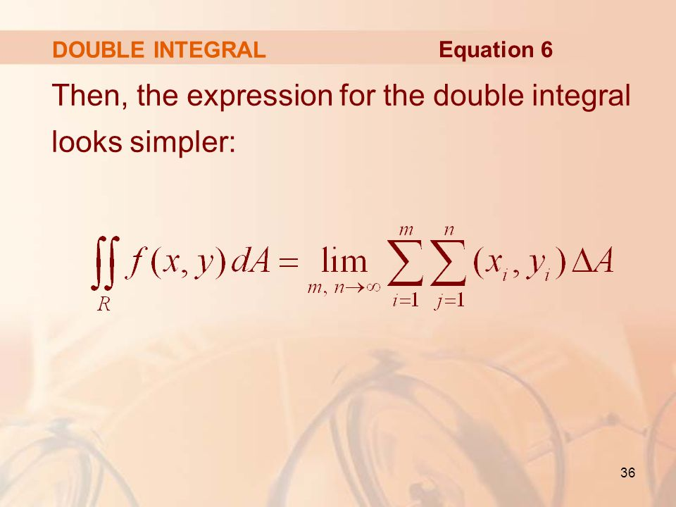 Then, the expression for the double integral looks simpler: