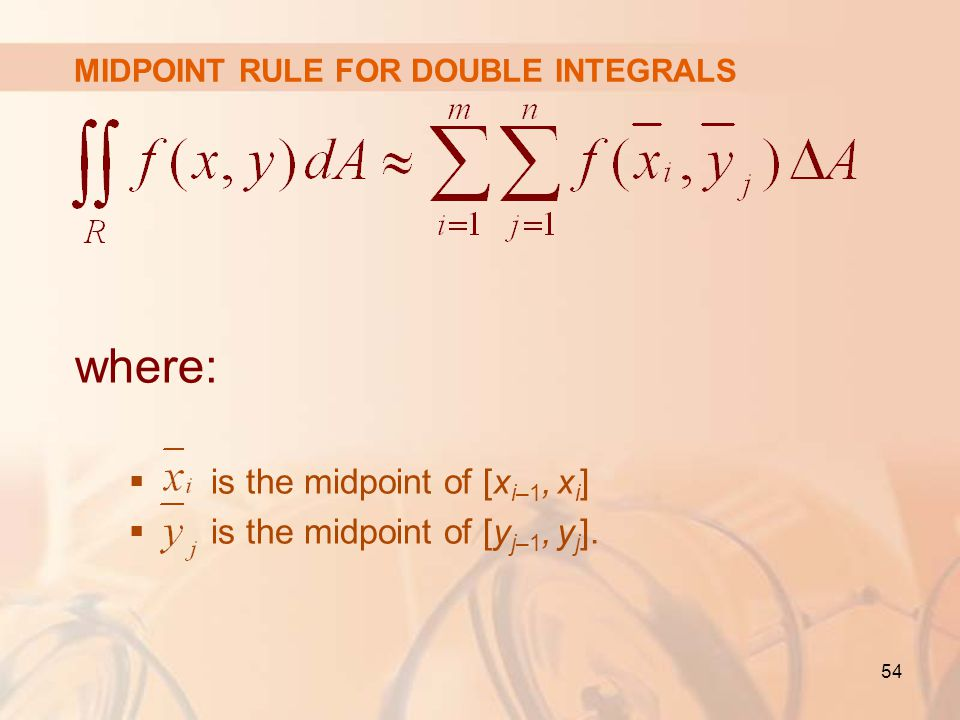 MIDPOINT RULE FOR DOUBLE INTEGRALS