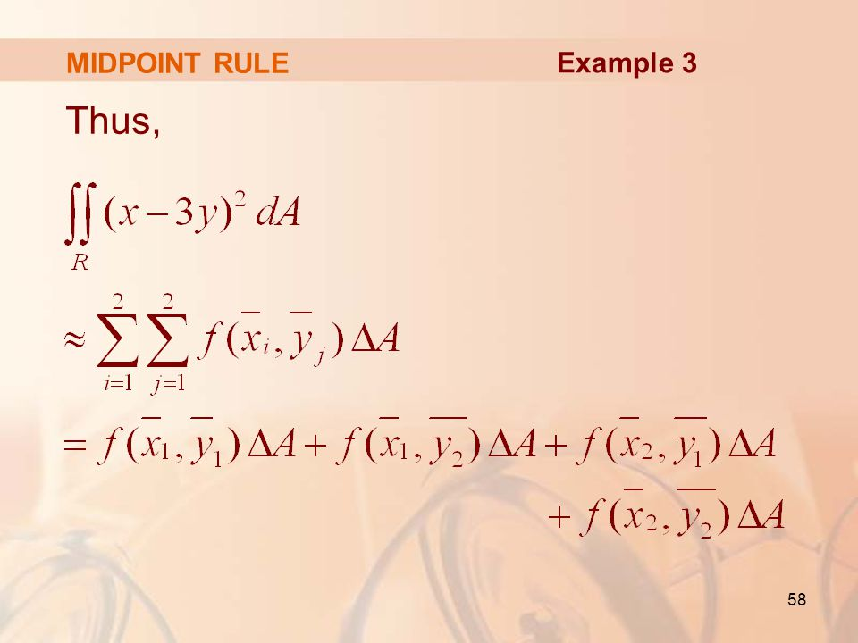 MIDPOINT RULE Example 3 Thus,