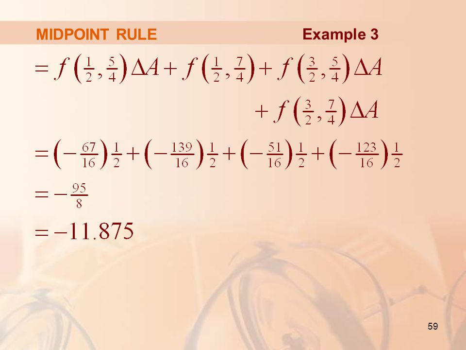 MIDPOINT RULE Example 3