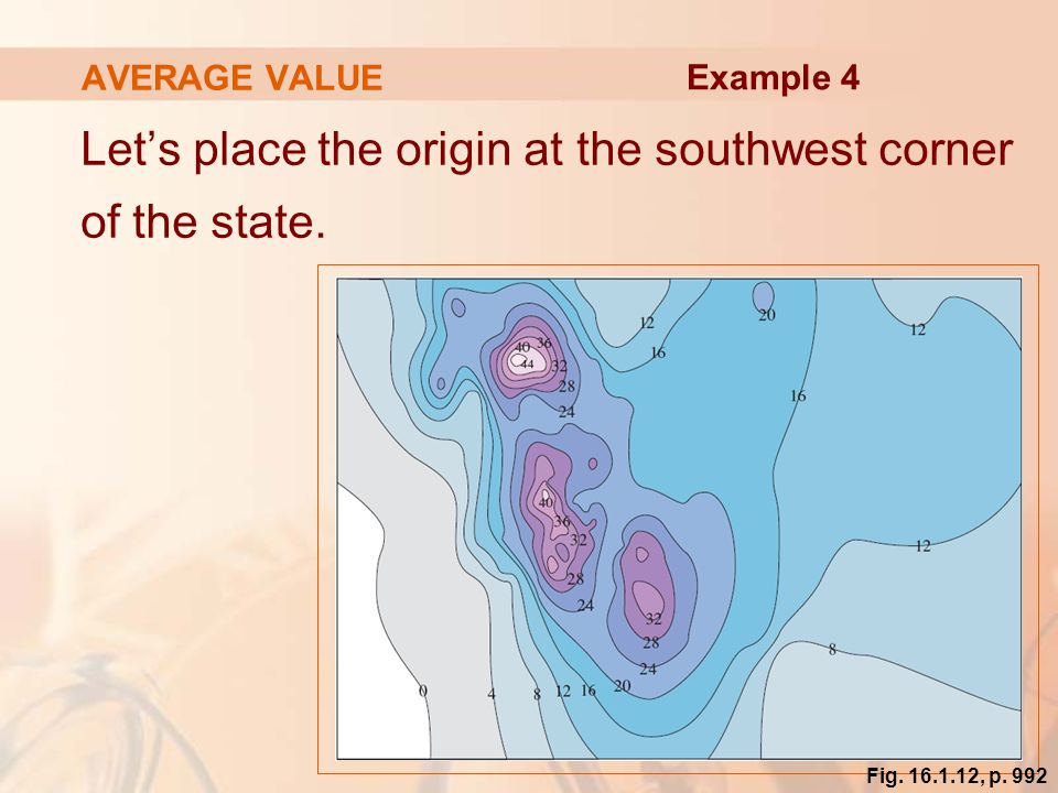 Let's place the origin at the southwest corner of the state.