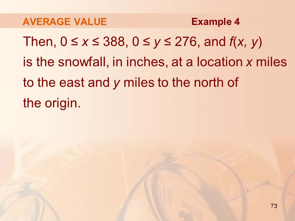 AVERAGE VALUE Example 4.