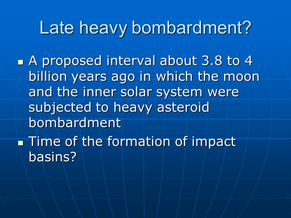Late heavy bombardment