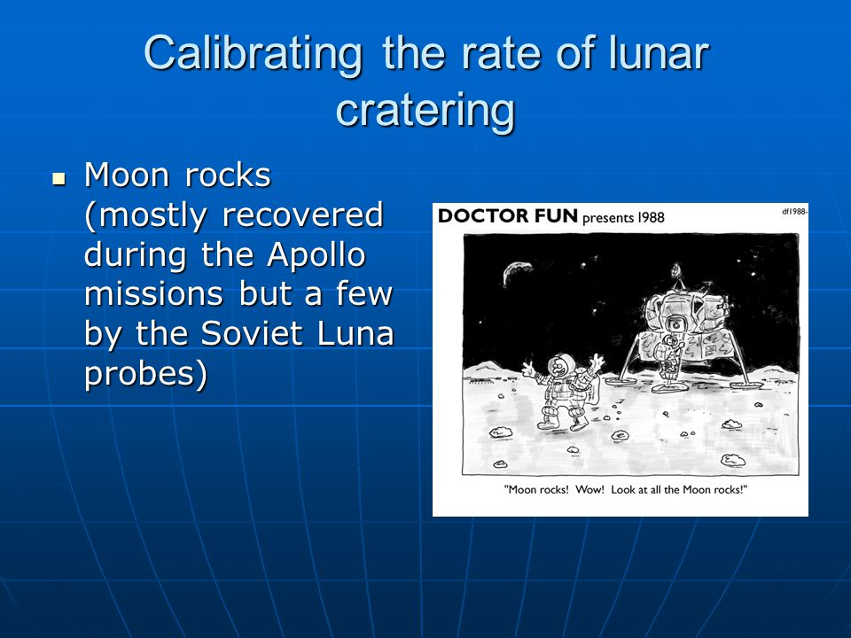Calibrating the rate of lunar cratering