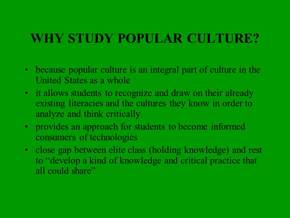 an introduction to popular culture Pop culture essay examples 31 total results an introduction to the history of pop music 882 words 2 pages an analysis of the influence of pop culture.