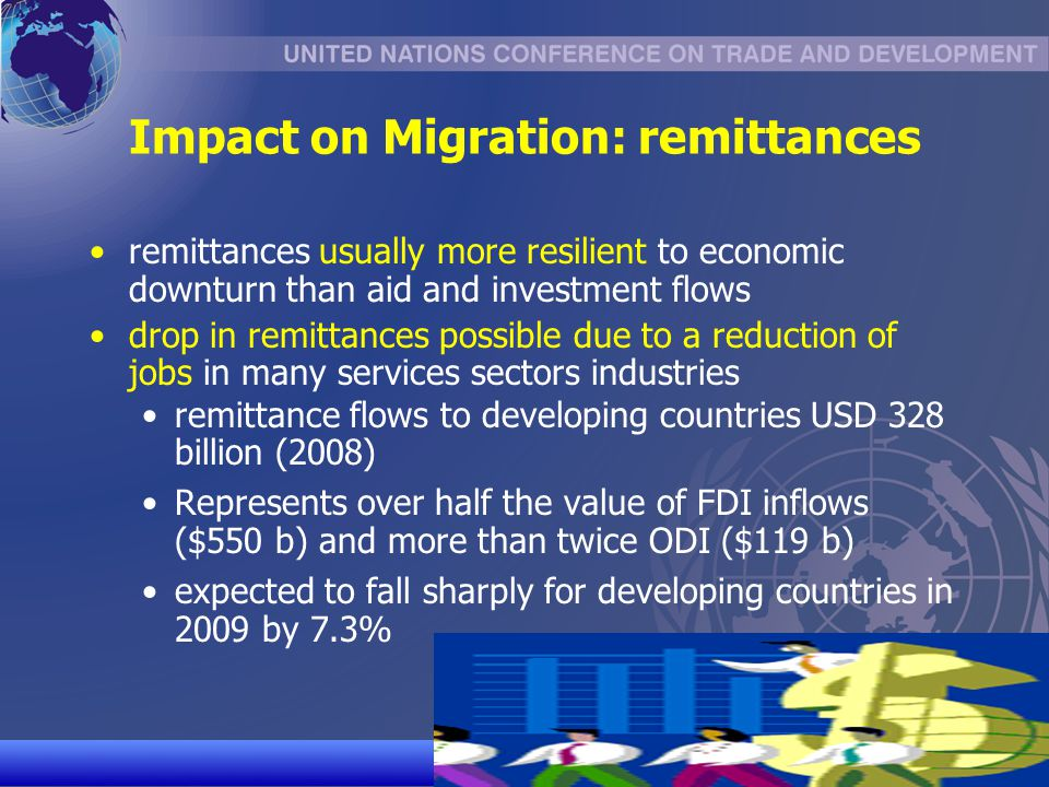 effect of fdi remittance and aid Indicate that remittances have positive effect on the per capita income growth of   fdi net inflows, net official development assistance (oda) and remittances.