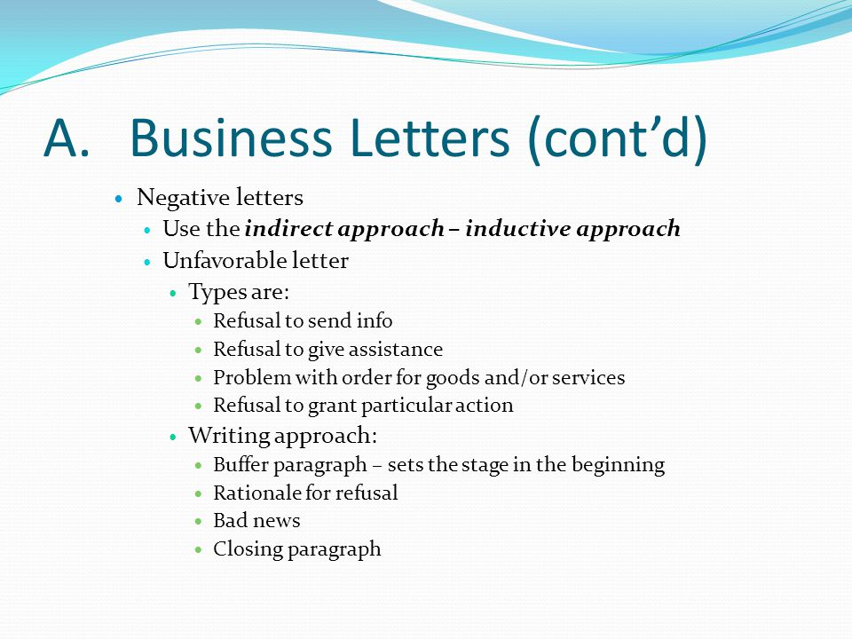 Office administration chapter 8 ppt video online download a business letters contd spiritdancerdesigns Images