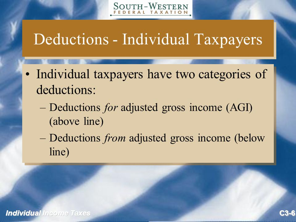 chapter 6 individual deductions Individuals may claim an itemized deduction if they suffer a casualty loss to   ruling 71-161 quotes treasury regulations section 11016-6(a):.