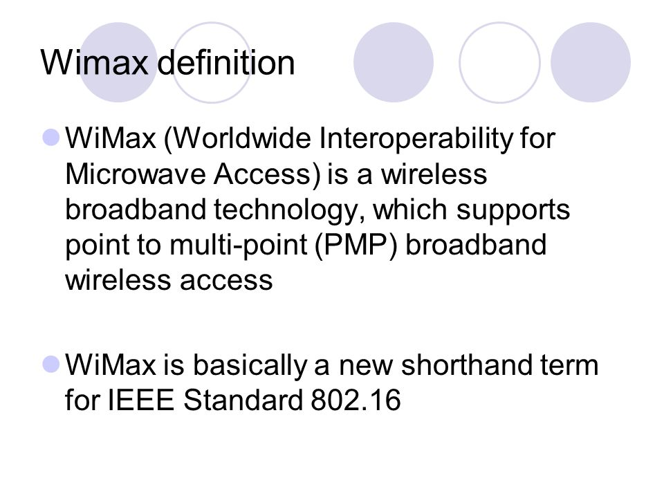 Wimax wireless broadband ppt download for Ieee definition
