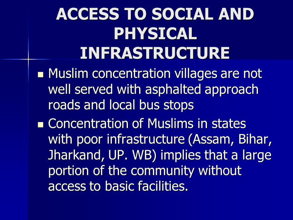 ACCESS TO SOCIAL AND PHYSICAL INFRASTRUCTURE