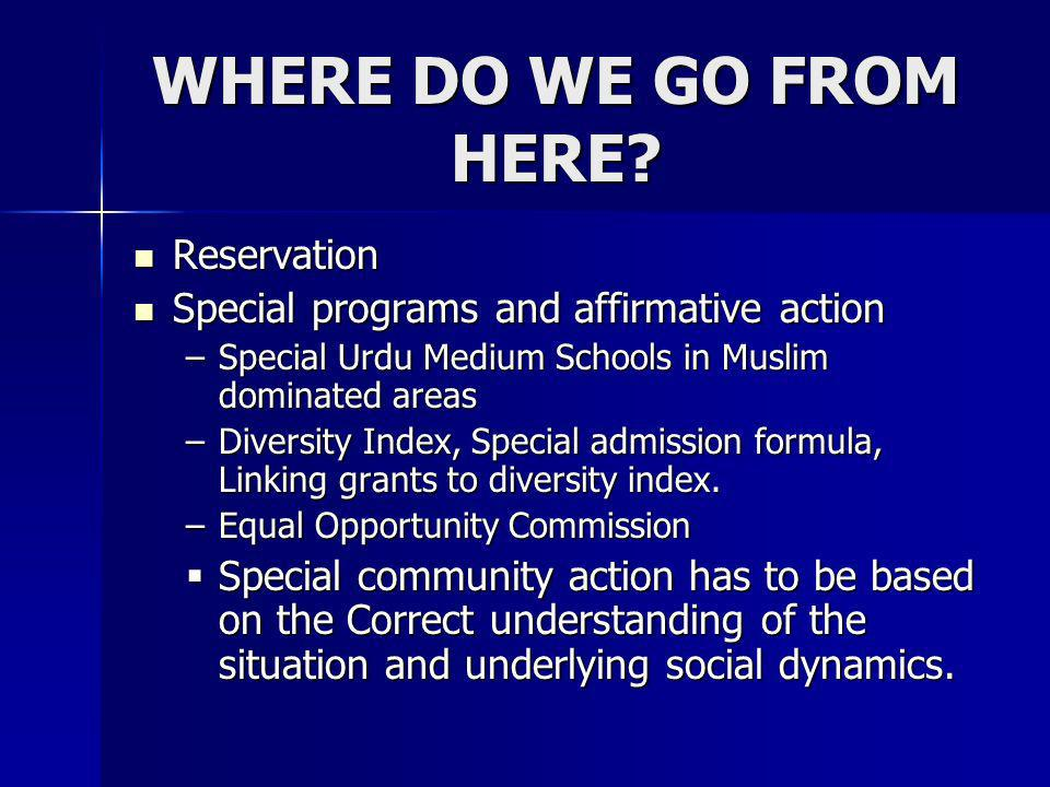 WHERE DO WE GO FROM HERE Reservation