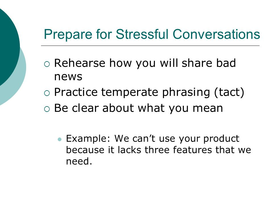 Prepare for Stressful Conversations