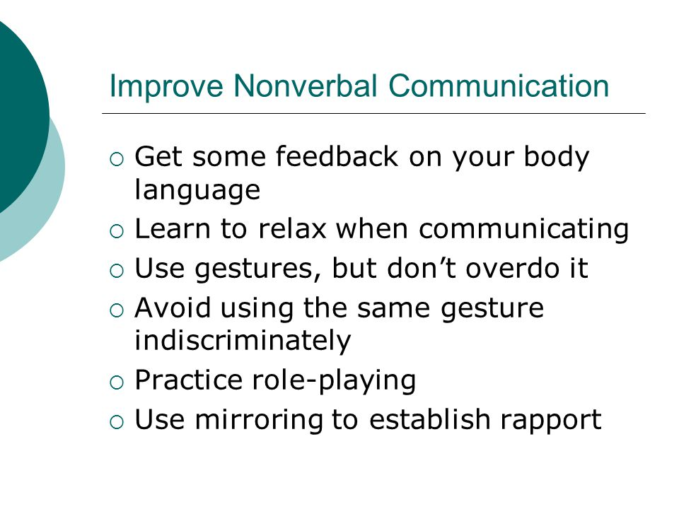 Improve Nonverbal Communication