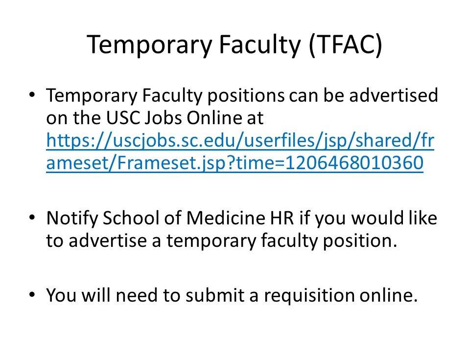 Temporary Faculty (TFAC)