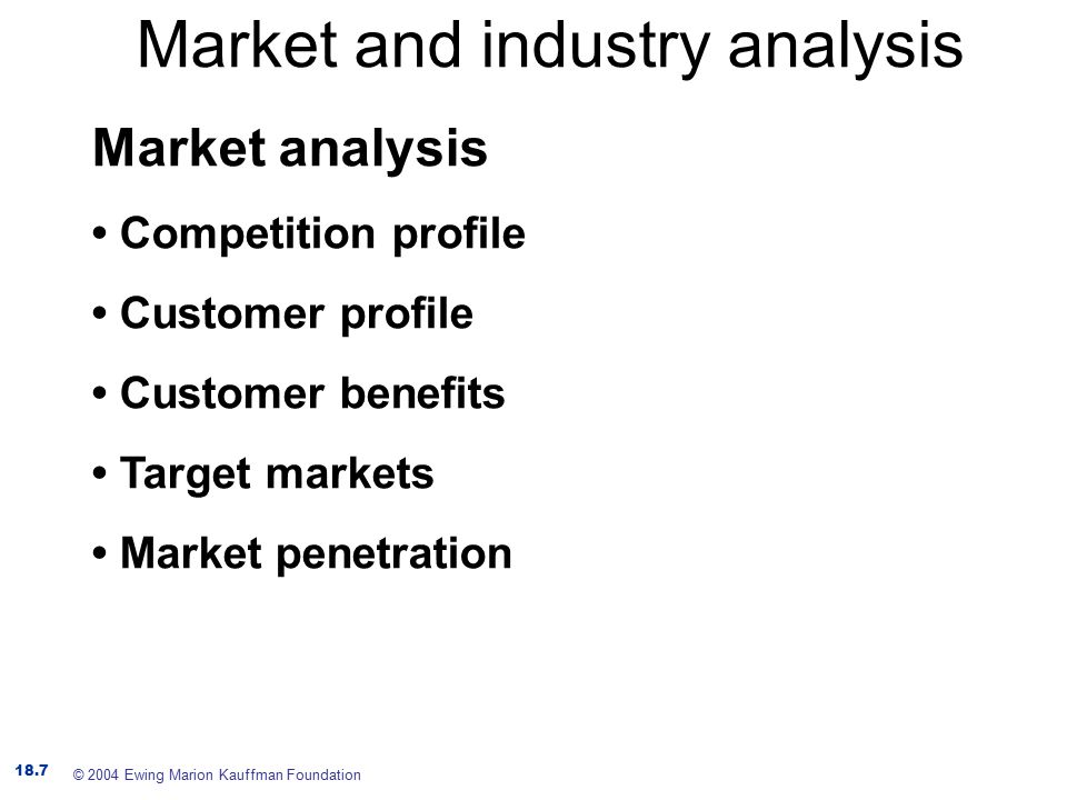 Market And Industry Analysis  Ppt Download