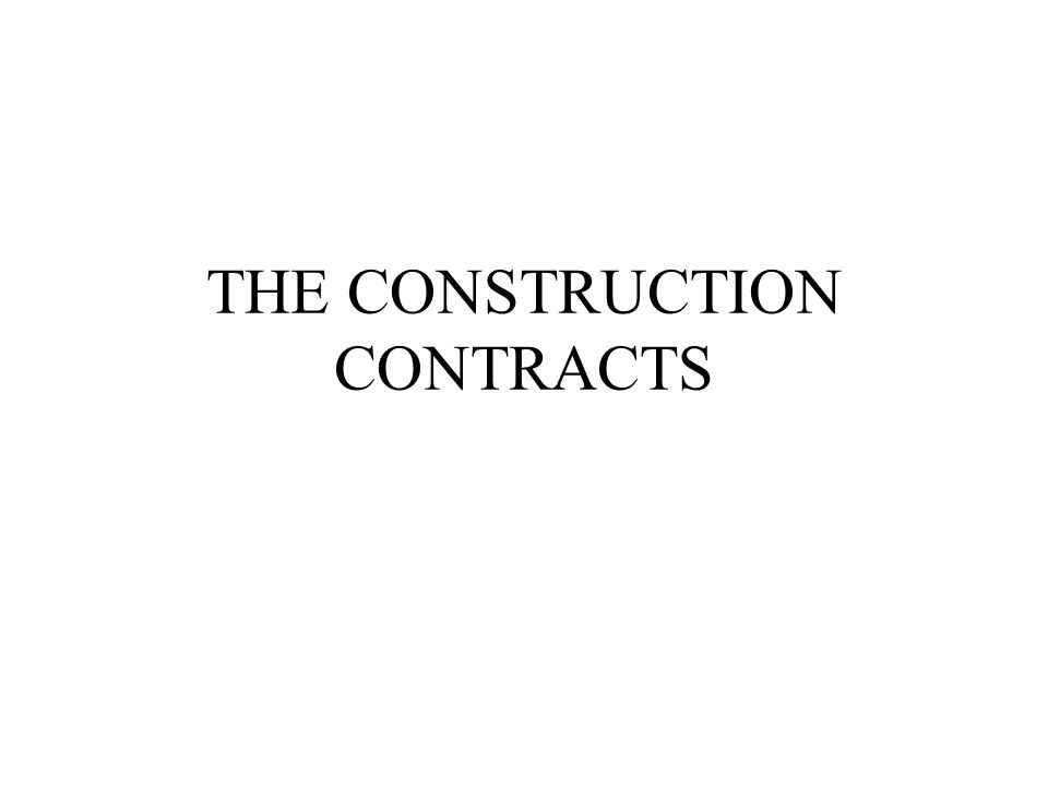 nature of construction contracts The fragmentation process in traditional contracting practice  furthermore, the  sequential nature of construction activities is highly embedded in construction.