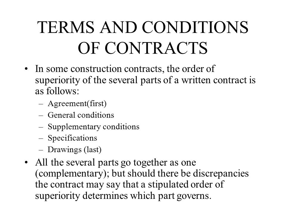 THE CONSTRUCTION CONTRACTS Ppt Video Online