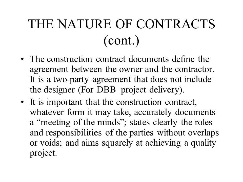 The Construction Contracts - Ppt Video Online Download
