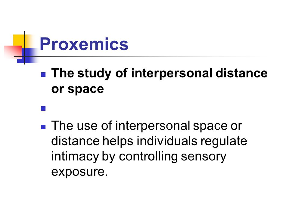 proxemics research Research on nonverbal communication, from darwin's study the expression of the emotions in man and animals (1872), to contemporary research on kinesics, proxemics, chronemics, and haptics, will provide the theoretical basis.