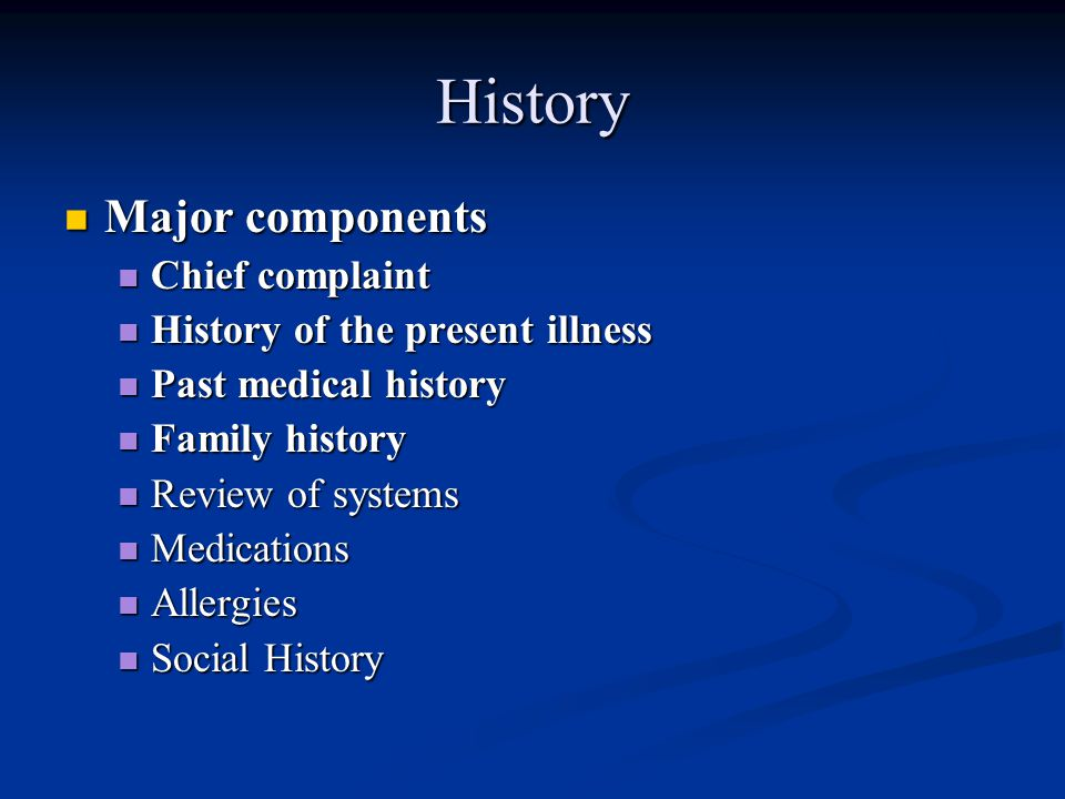 chief complaint 5 A chief complaint is a medically necessary reason for the patient to be meeting with the physician a readily identifiable chief complaint is the first step in establishing medical necessity without a chief complaint, the service is preventive.