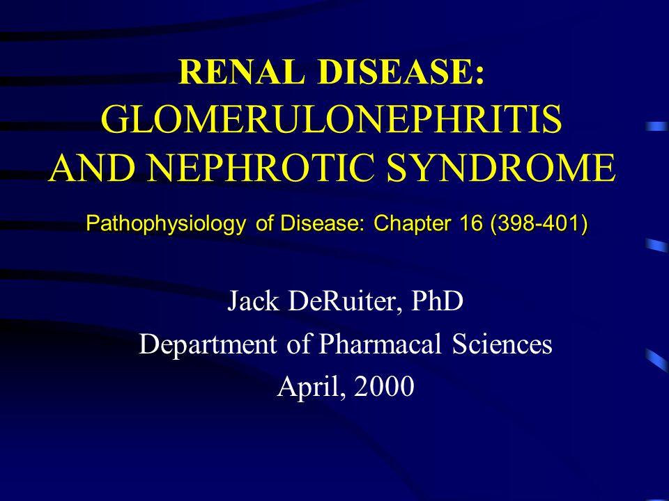 Jack DeRuiter, PhD Department of Pharmacal Sciences April, 2000