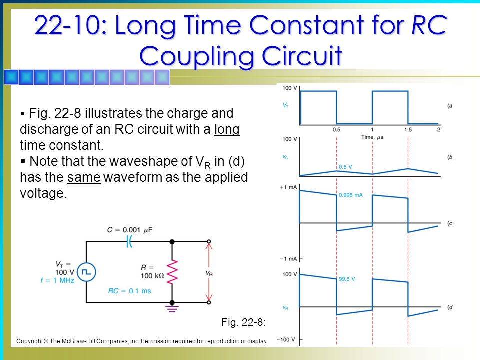 22-10: Long Time Constant for RC Coupling Circuit