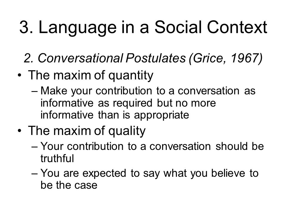 Formal language and social context