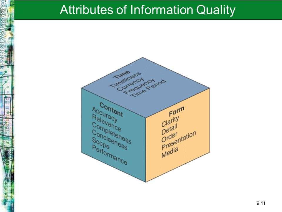 attributes of information Management information systems (mis) is an organized approach to gathering information from company operations and making.