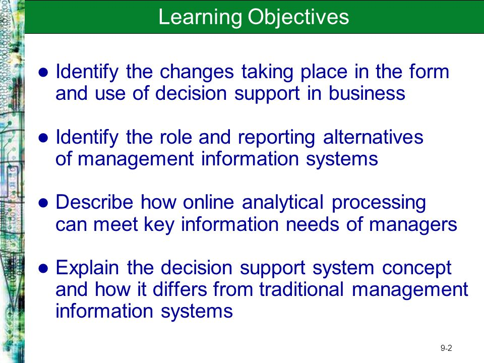 decision support systems help managers make decisions that are unique rapidly changing and not easil That are unique, rapidly changing, and not easily other systems 17decisions that are unique  your help thank you for the reliable support you.