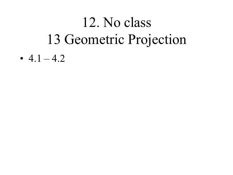 12. No class 13 Geometric Projection