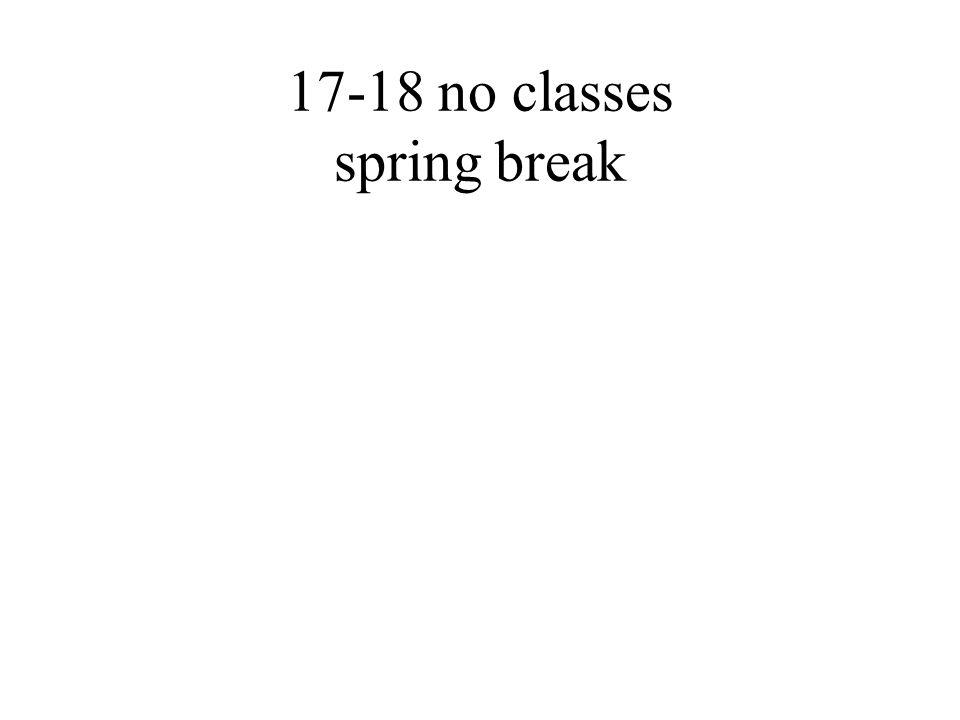 17-18 no classes spring break