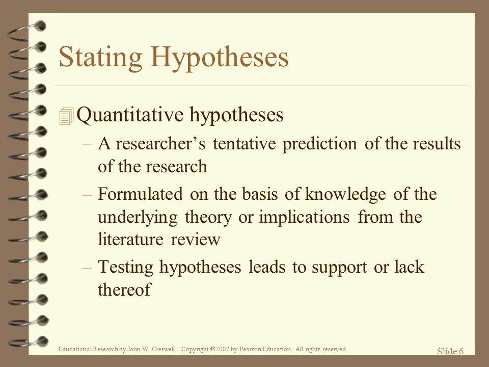What Is a Quantitative Hypothesis?
