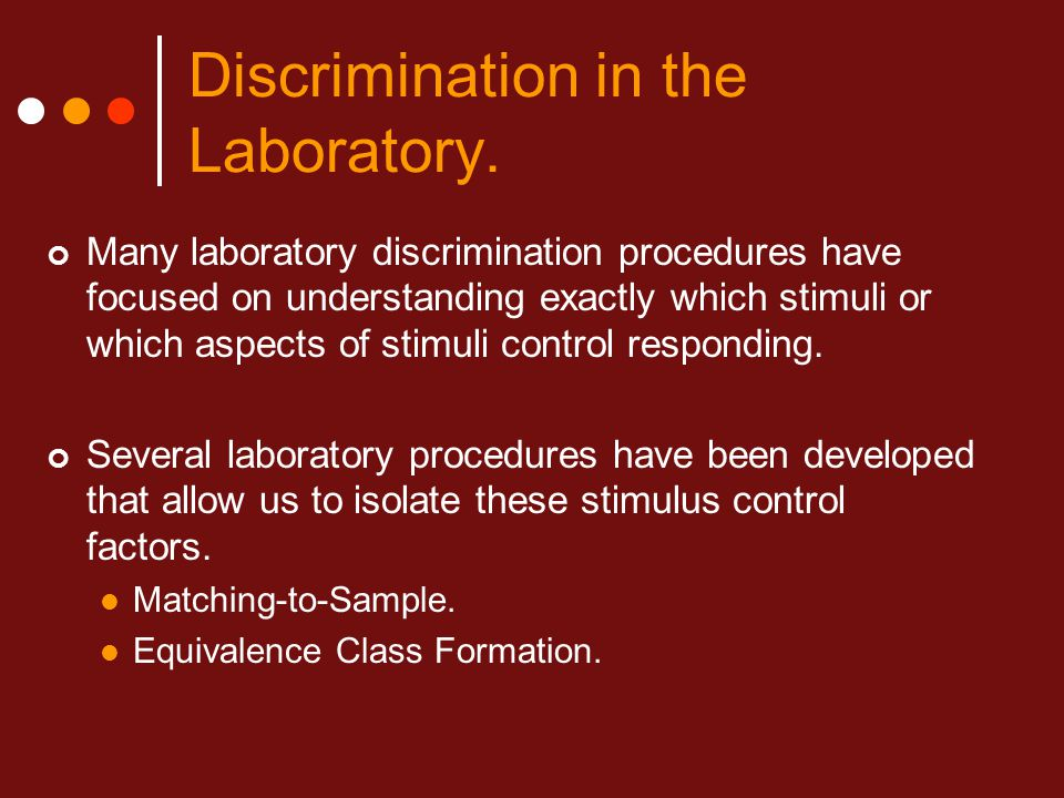 understanding the definition of discrimination Definitions of discrimination differ from definitions used in other disciplines and  from  events-oriented and process-oriented understanding of discrimination.