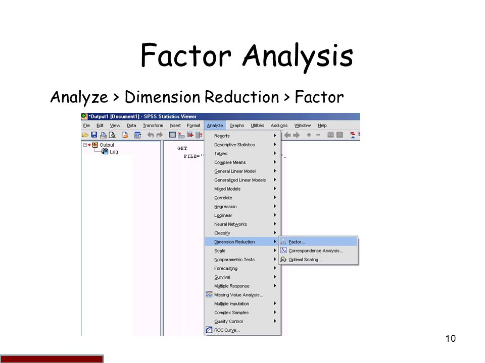 factor analysis factor analysis is a method of dimension reduction ppt video online download. Black Bedroom Furniture Sets. Home Design Ideas