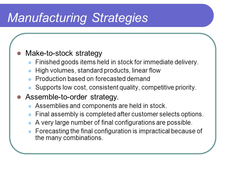 competitive priority and forecasting Role of inventory management on competitive advantage among manufacturing firms in kenya: a  have to be competitive in several dimensions, such as cost efficiency, quality, delivery time and  inventory forecasting, valuation of inventory, future inventory price forecasting, physical inventory, inventory visibility, available space for.