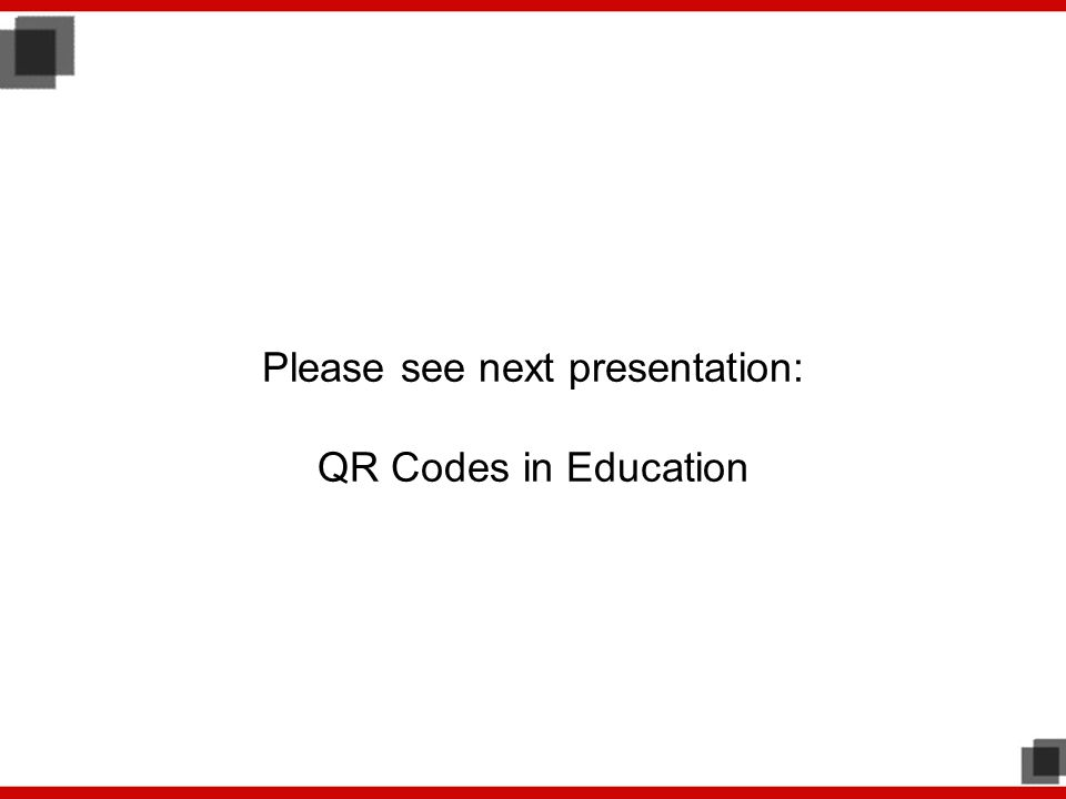 Please see next presentation: