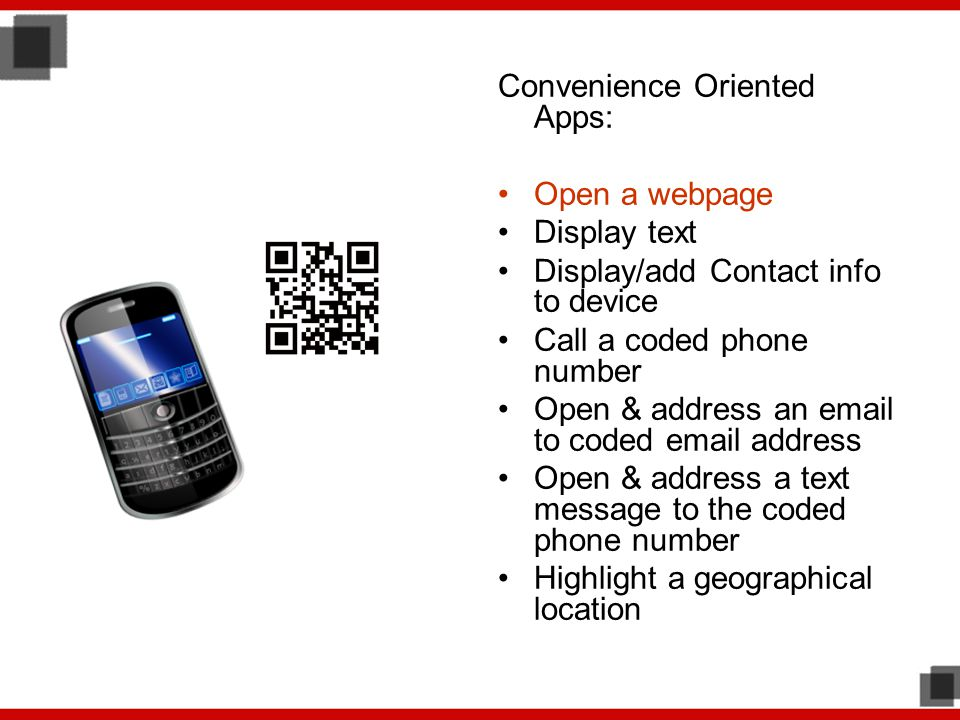 Convenience Oriented Apps: