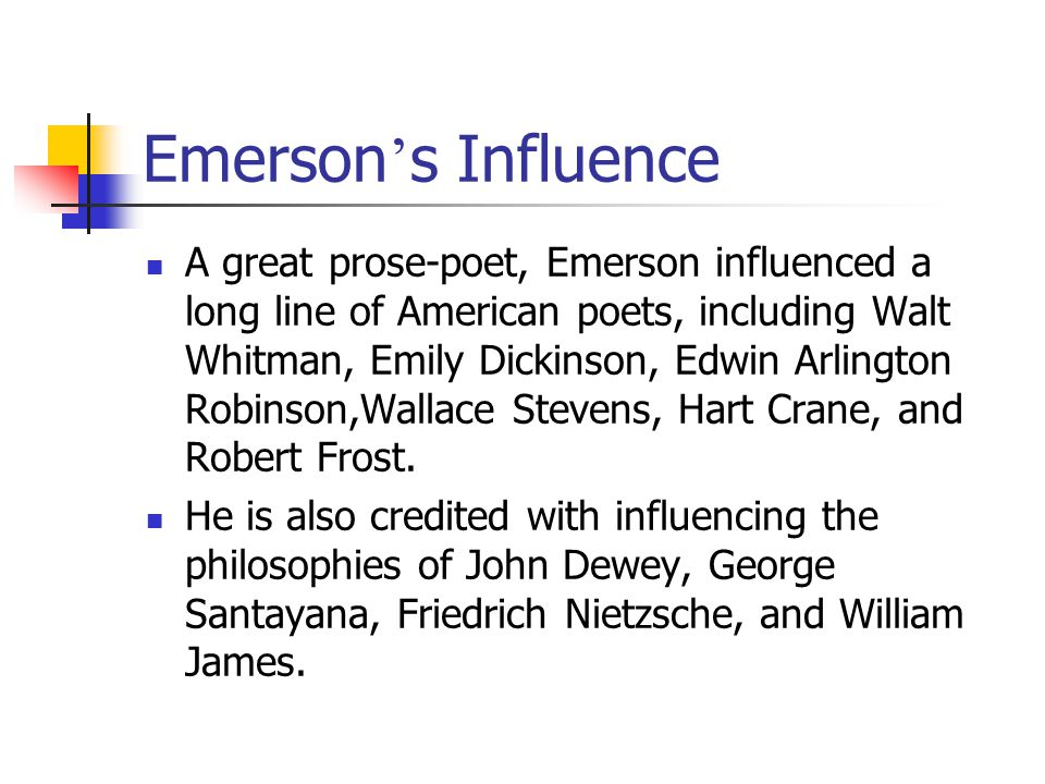 The influences of transcendentalism and beyond essay