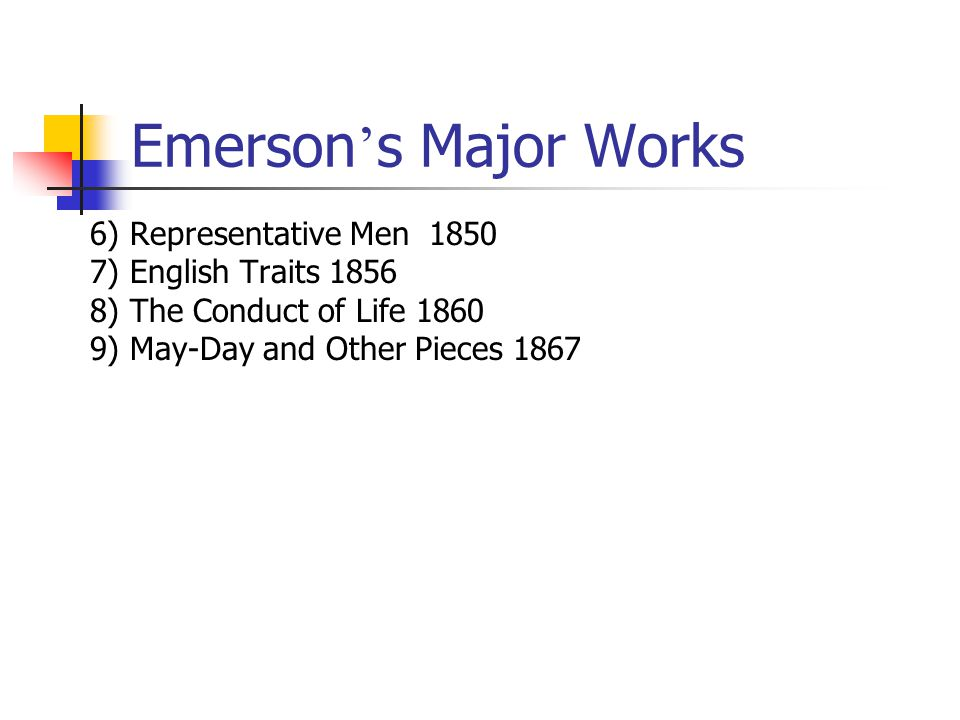 the ideas of transcendentalism in the works of william bryant henry thoreau and ralph emerson Transcendentalism is a school of philosophical thought that developed in 19th century america important trancendentalist thinkers include ralph waldo emerson, margaret fuller, and henry david thoreau.