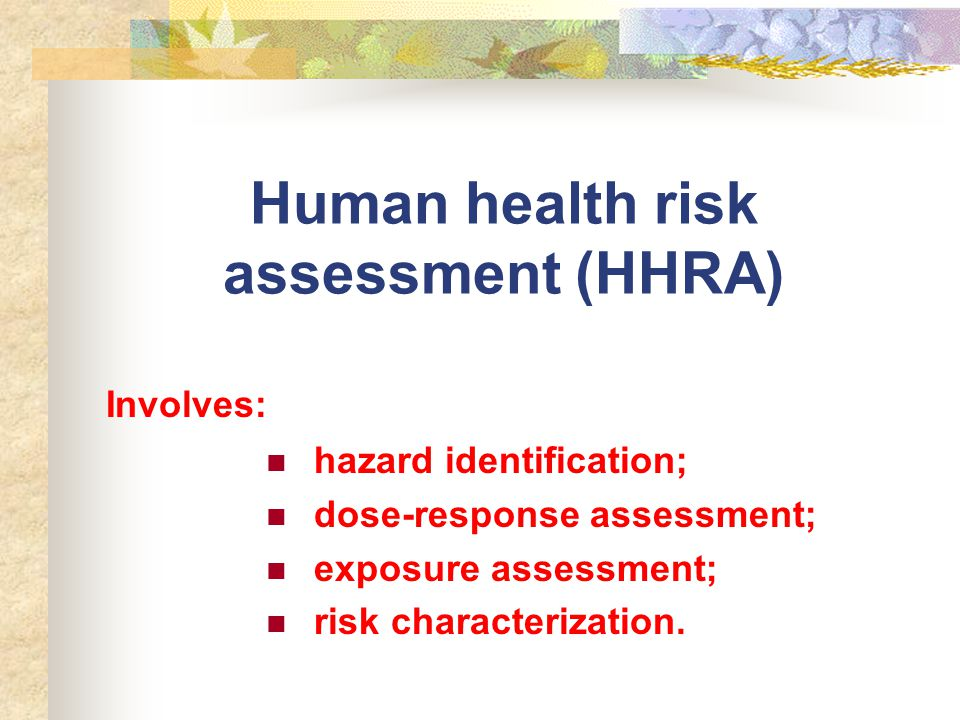 Theories In Environmental Risk Assessment - Ppt Video Online Download