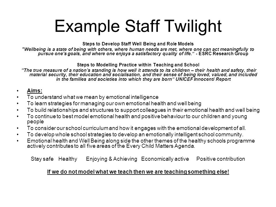 Example Staff Twilight