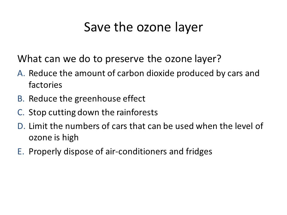 ozone layer thesis statement