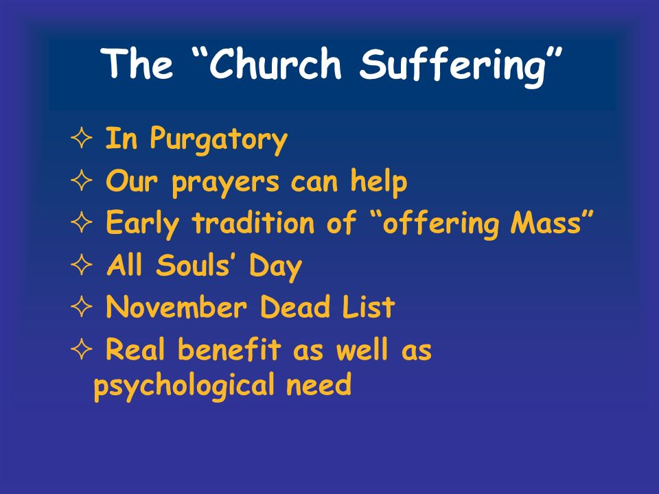 The Church Suffering