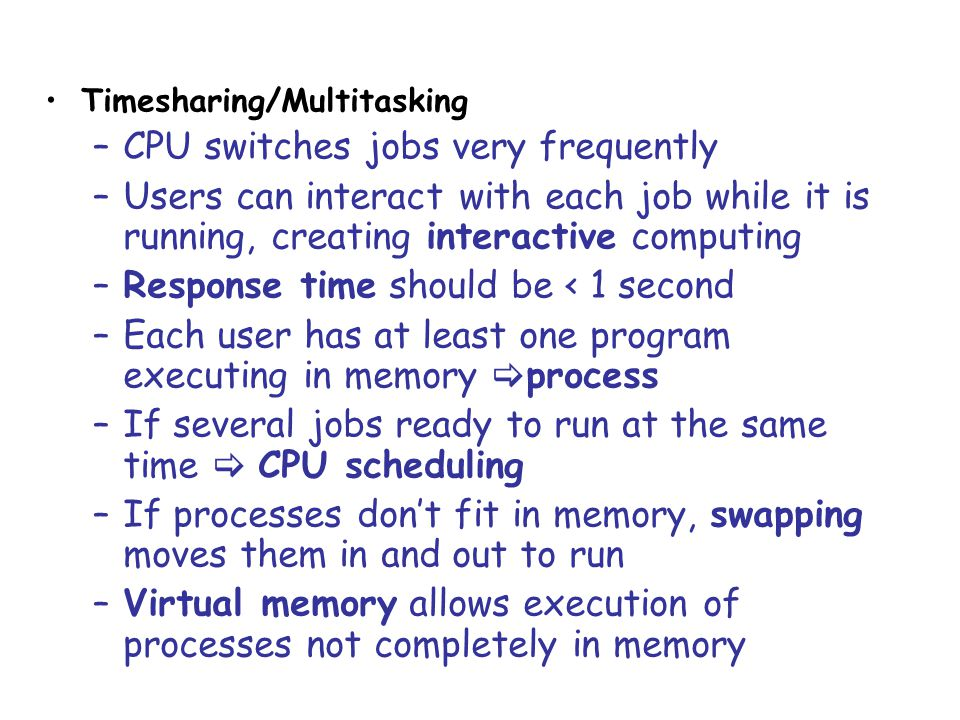 CPU switches jobs very frequently
