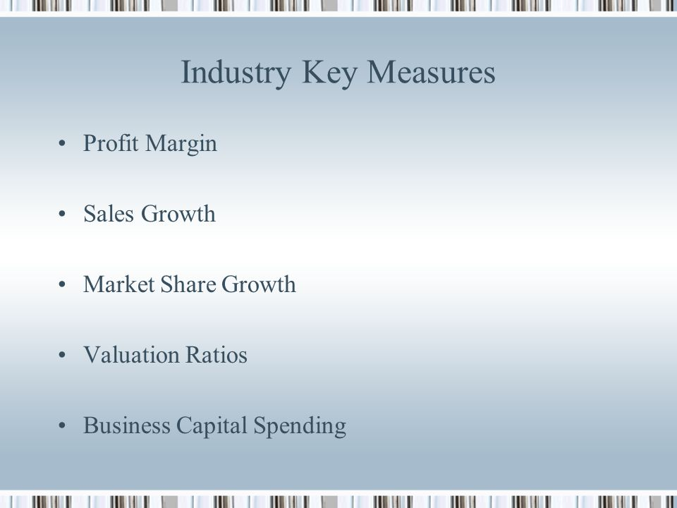 valuation ratios in restaurant industry Industry analysis restaurant industry has four general segments according to the service customers receive: value and hospitality are.
