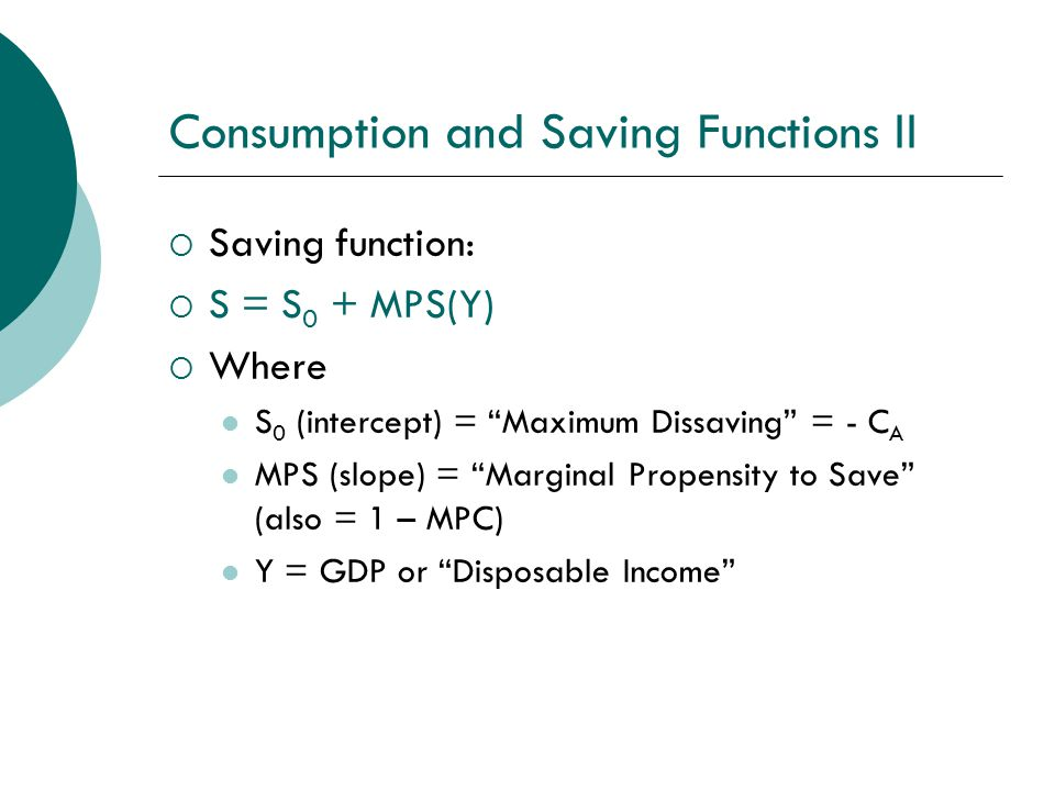 income consumption and saving relationship children