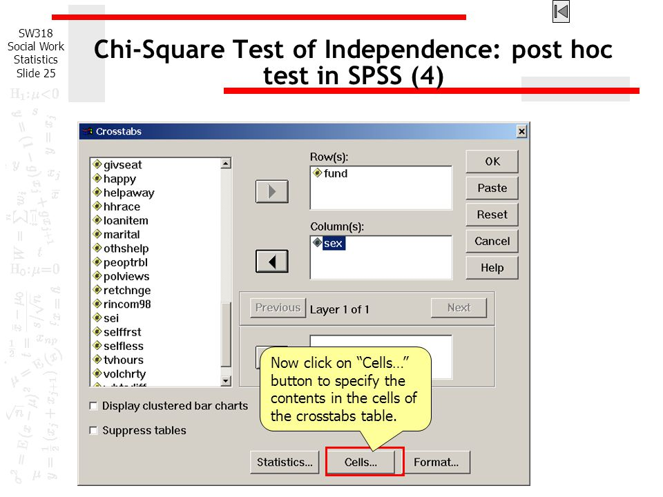 Chi-Square Test of Independence: post hoc test in SPSS (4)