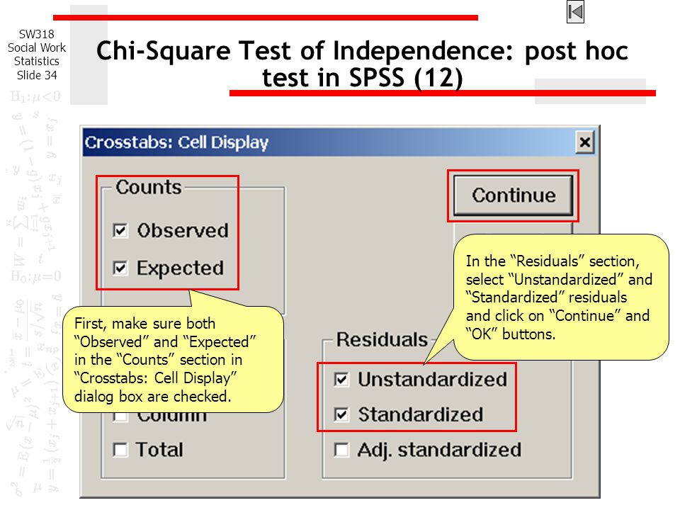 Chi-Square Test of Independence: post hoc test in SPSS (12)