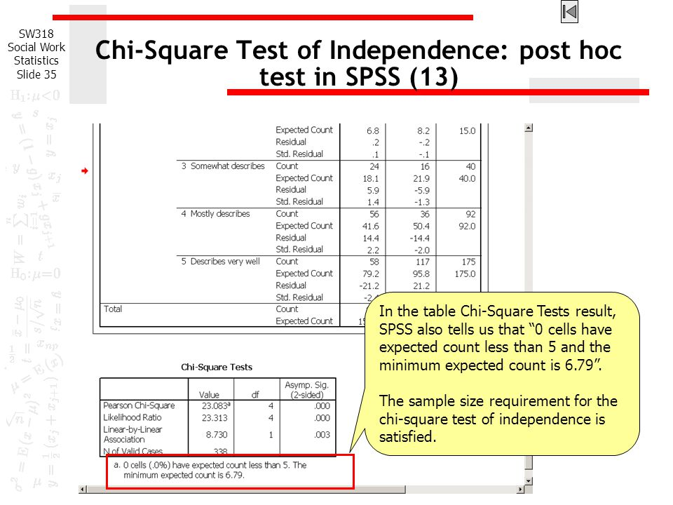 Chi-Square Test of Independence: post hoc test in SPSS (13)
